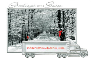 holiday cards for trucking companies